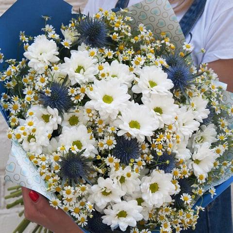 Букет из ромашек брянск, цветы