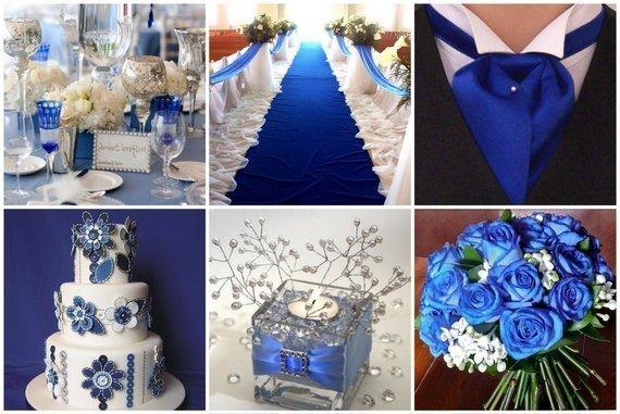 Оформление свадьбы в синем цвете - StudioFloristic.ru