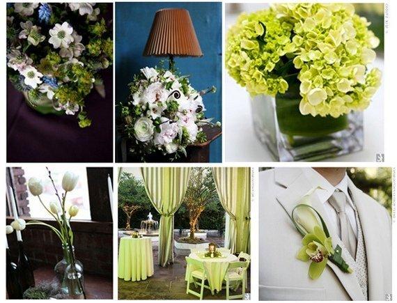 Свадьбы в зеленом цвете