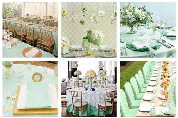 Свадьба в мятном цветовом оформлении