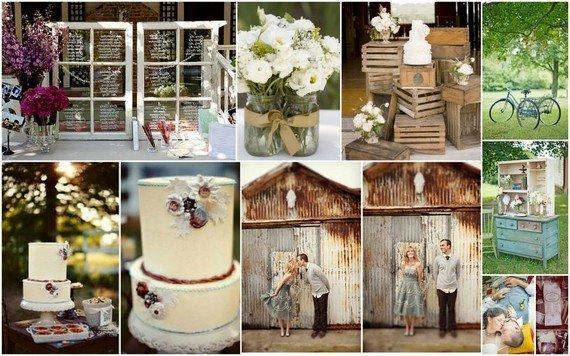 Оформление свадьбы в винтажном стиле