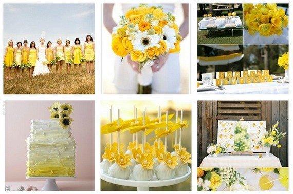 Свадьба в желтом цветочном оформлении